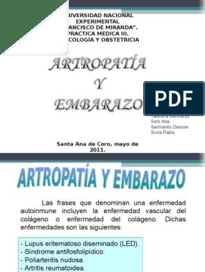 Hipertensión embarazo artritis inducida