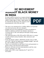 Historic Movement Against Black Money in India