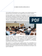 Análisis de Lectura la educación en la hora dogital