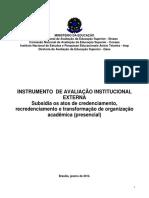 INSTRUMENTO DE AVALIAÇÃO INSTITUCIONAL EXTERNA