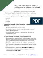PROPUESTA PARA RESOLVER LA POLARIZACIÓN ENTRE LOS PUNTOS DE VISTA CATÓLICOS DEL VATICANO II Y LOS DE ROMA