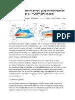 Fenomena Global Yang Mempengaruhi Iklim Di Indonesia - KOMPASIANA