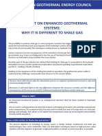 Fact Sheet on EGS Why It is Different From Shale Gas.