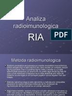 Analiza radioimunologica