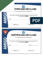 Certificado de Amigo