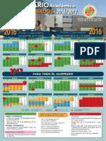 Calendario Grados Uja 2016-2017