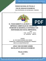Tesis Financiamiento de Las Mypes Para Responsabilidad Social