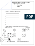 Evaluación 2do Per-español Cmcl