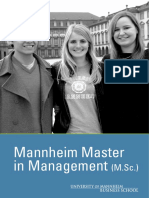 Master in Management Brochure - Mannheim University