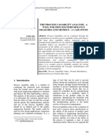 The Process Capability Analysis
