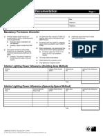 Standard 90.1-1999 - Lighting Compliance Documentation