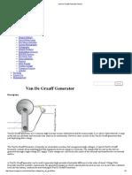 Van de Graaff Generator Article
