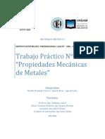 Trabajo Práctico N° 1 Propiedades Mecanicas de Metales