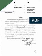 Brinson Suspension Order