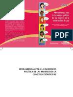 Herramientas para la incidencia política de las mujeres en la construcción de paz