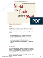 The World, The Flesh, And the Devil - A Roleplaying Game by Paul Czege