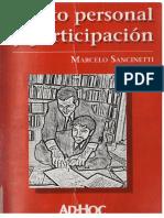 Ilicito Personal y Participacion - Sancinetti