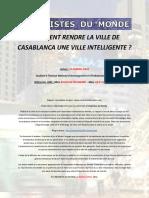 COMMENT RENDRE LA VILLE DE CASABLANCA UNE VILLE INTELLIGENTE ?  EL BAKKALI ANAS -Rapport UdM 2016