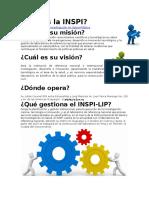Qué es la INSPI