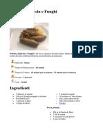 Polenta, Salsiccia e Funghi