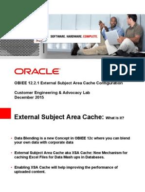 OBIEE 12 2 1 External Subject Area Cache Configuration