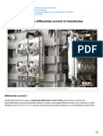 3 Main Causes of False Differential Current in Transformer