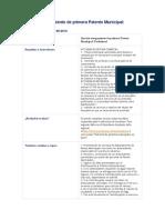 Servicio Otorgamiento de Primera Patente Municipal