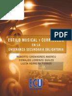 Estilo Musical y Curriculum en La Enseñanza Secundaria Obligator