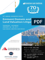 Brochure, ALI-CLE 2017 Eminent Domain & Land Valuation Litigation Conference, San Diego