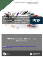 La Educacion en Las Organizaciones