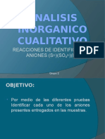Analisis Inorganico Cualitativo Del Sulfuro