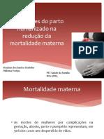 Maykon dos Santos Marinho - Implicações do parto Humanizado na redução da mortalidade materna