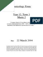 2004 Musicology Essay