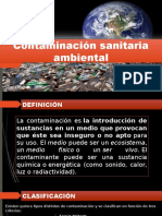 Contaminación sanitaria ambiental