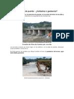 Erosión en Pilas de Puente