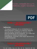 Definición Organización y Métodos