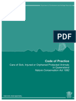 code of practise - care of sick injured or orphaned protected animals in qld march 2013