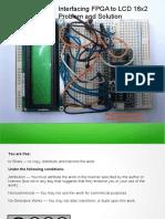 Interfacing Lcd With f Pga