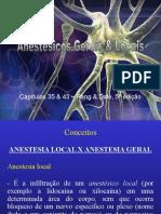 Farmacologia Anestésicos Gerais & Locais