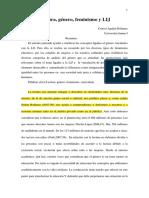 Lectura, Género, Feminismo y LIJ, Consol Cardena.