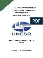 Reglamento General de La Unesr