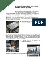 Procesos Generales en La Industria Militar Indumil Planta Fagecor