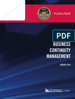 Practice Guide - Business Continuity Management