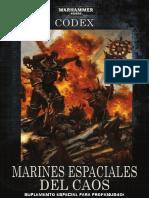 Codex Marines Espaciales Del Caos Warhammer Profanus