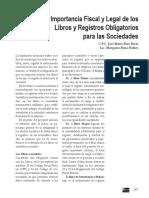 La Importancia Fiscal y Legal de Los Libros y Registros Obligatorios Para Las Sociedades