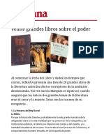 Veinte Libros Sobre El Poder. Revista Semana.