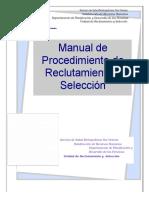 Manual de Procedimiento de Reclutamiento y Selección.
