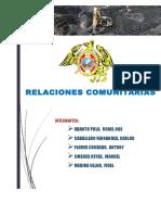 RELACIONES COMUNITARIAS