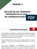 Unidad 7 Analisis de Los Contratos Petroleros en La Fase Del Upstream en Bolivia