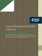 Lenovo Ideapad 500 15 ACZ Laptop Dispaly Drivers Fix